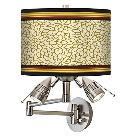 Stacy Garcia Spice Dahlia Giclee Swing Arm Wall Light