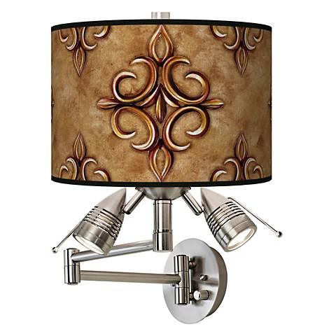 Estate Nutmeg Giclee Swing Arm Wall Light