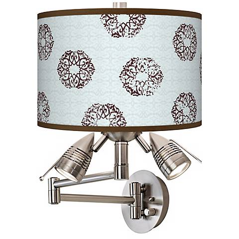 Weathered Medallion Giclee Side Light Swing Arm Wall Light