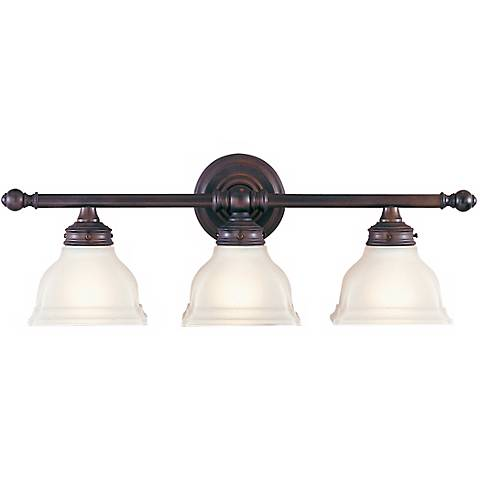 "Feiss New London 25"" Wide Bronze Bathroom Fixture"