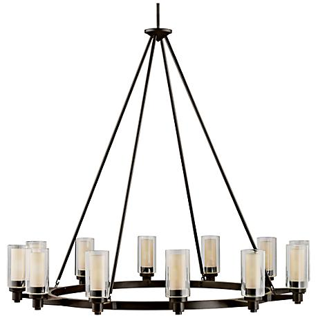 """Circolo Collection Olde Bronze 44 1/2"""" Wide Chandelier"""