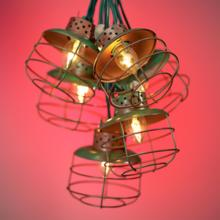 Metal Cage Lantern String Party Lights - 10 Light Strand