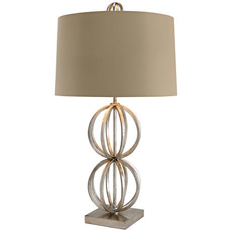 Millennium Open Globes Iron Table Lamp