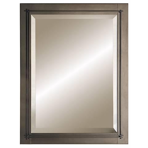 "Hubbardton Forge Metra  Bronze 27 3/4"" High Wall Mirror"
