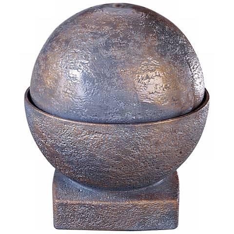 "Henri Studio 19 1/2""H Bronze Patina Sphere Patio Fountain"