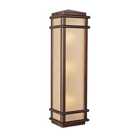 """Feiss Mission Lodge 26"""" High Outdoor Wall Light"""