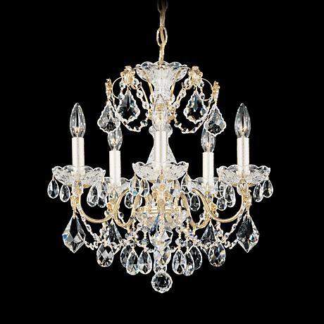 "Schonbek Century Collection 17"" Wide Crystal Chandelier"