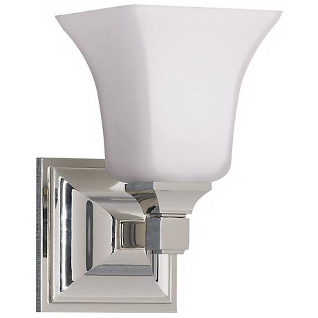 feiss american foursquare one light wall sconce 82408 lamps plus. Black Bedroom Furniture Sets. Home Design Ideas