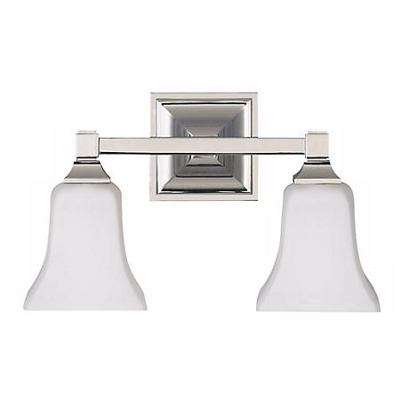 Feiss American Foursquare Two Light Bath Wall Light Fixture