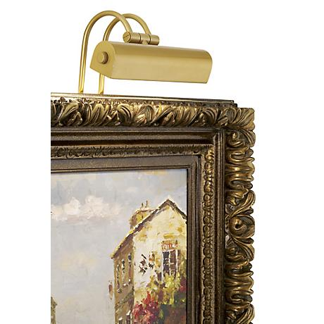"""Light Gold 9"""" Wide Plug-In Picture Light"""
