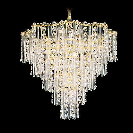 """Schonbek 14"""" Wide Jubilee Gemcut Crystal Small Chandelier"""