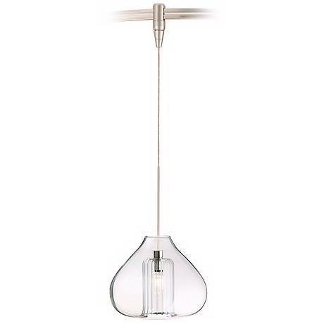 Cheer Single Globe Satin Nickel Tech Lighting MonoRail Pendant
