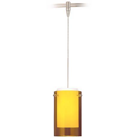 Echo Steel Amber Tech Lighting MonoRail Pendant