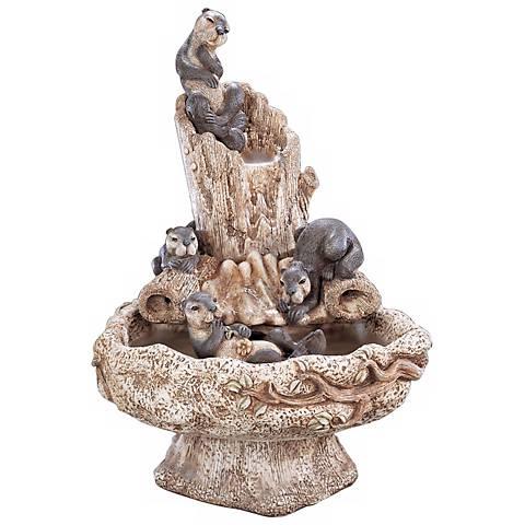 "Henri Studio 35"" High Hi-Tone Sea Otter Playground Fountain"