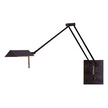 Holtkoetter Bernie Bronze Swing Arm Wall Lamp