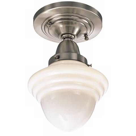 "Bradford Collection 6 1/2"" Wide Schoolhouse Ceiling Light"