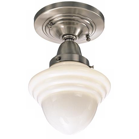 """Bradford Collection 6 1/2"""" Wide Schoolhouse Ceiling Light"""