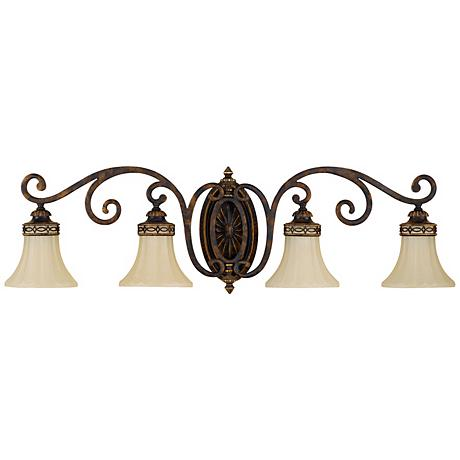"""Feiss Edwardian Collection 38"""" Wide Bathroom Light Fixture"""