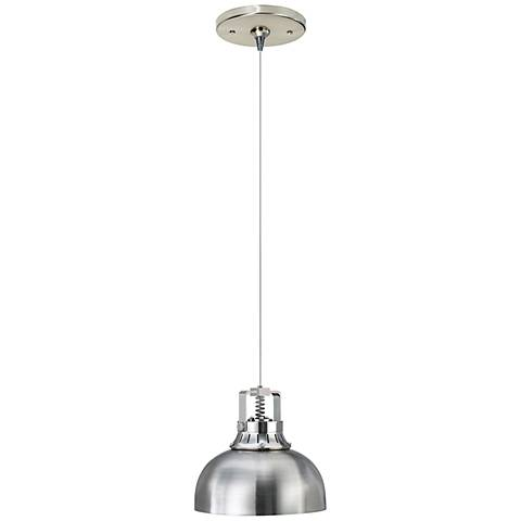 "Freejack Cargo Solid 6 1/2""W Satin Nickel Mini Pendant"