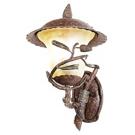 """Ponderosa Collection 22"""" High Outdoor Wall Light"""