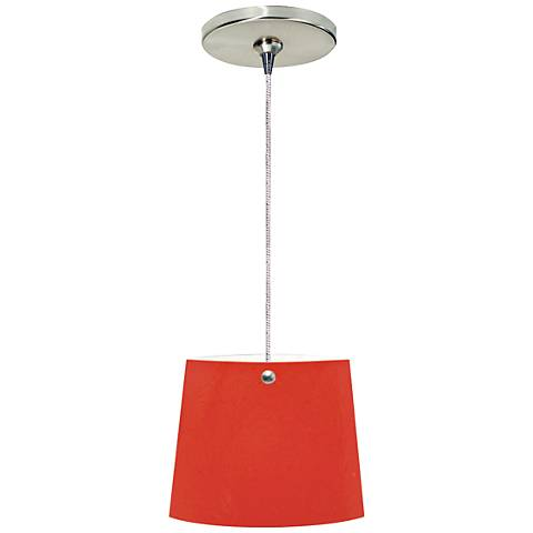 """Jaclien 6""""W Red and Nickel Freejack Mini Pendant with Canopy"""
