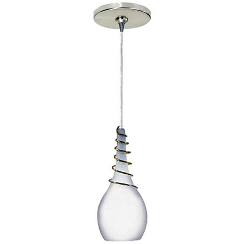 """Water 3 1/4"""" Wide Frost Freejack Mini Pendant with Canopy"""