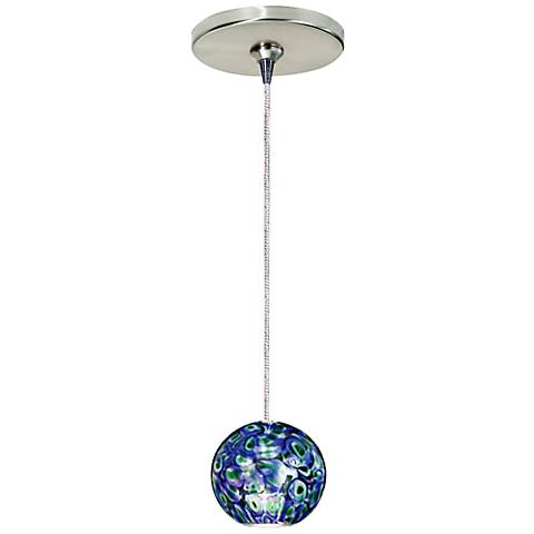"""Moon 2 1/2"""" Wide Blue Moon Freejack Mini Pendant with Canopy"""