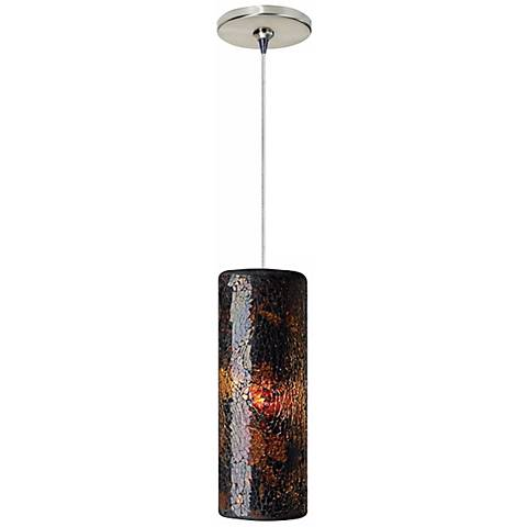 Veil Brown Glass Satin Nickel Tech Lighting Mini Pendant