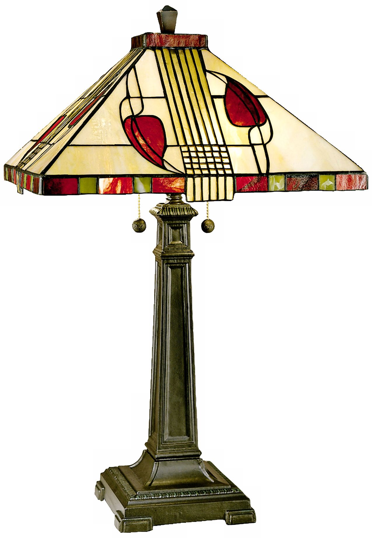 henderson tall cream glass dale tiffany table lamp - Tiffany Table Lamps