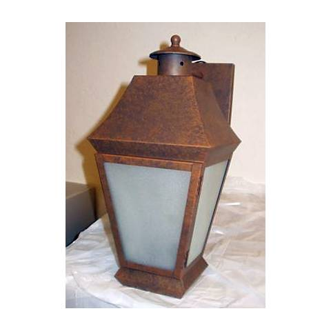 "Faux Rust Finish 15"" High Outdoor Wall Light"