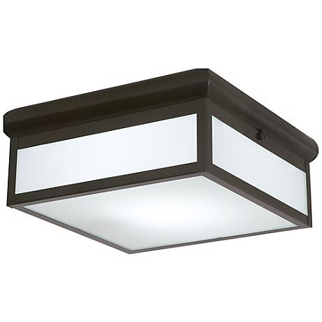 "Bronze Finish 12"" Wide Flushmount Ceiling Light"