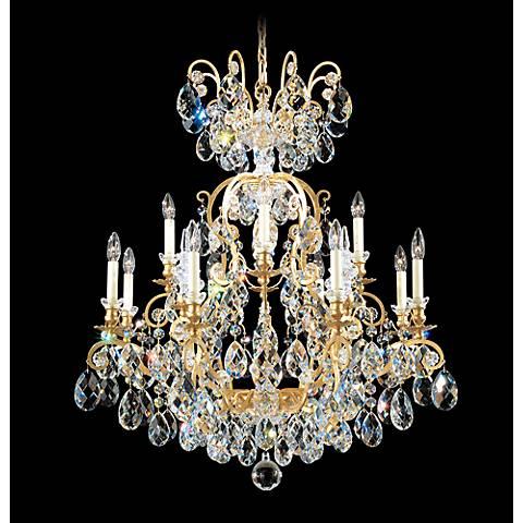 "Schonbek Renaissance 32""W Heirloom Gold Crystal Chandelier"
