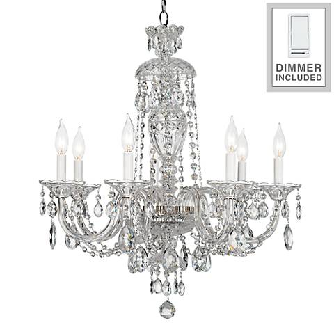 """Sterling 25""""-W Chandelier with Heritage Crystal and Dimmer"""