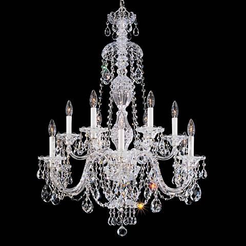 Schonbek Sterling 25 Wide Heritage Crystal Chandelier 85563 – Schonbek Sterling Chandelier