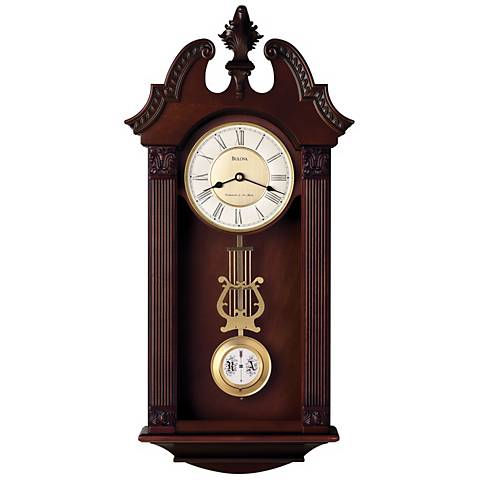 "Bulova Ridgedale 24 3/4"" High Chime Wall Clock"