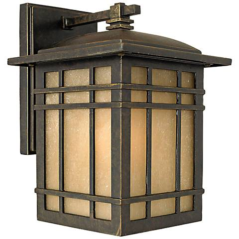 """Quoizel Hillcrest 10"""" High Bronze Outdoor Wall Light"""