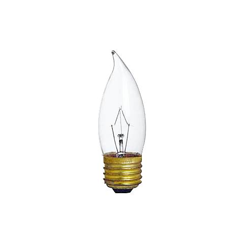 Clear Flame Tip 60-Watt Medium Base Candelabra Light Bulb