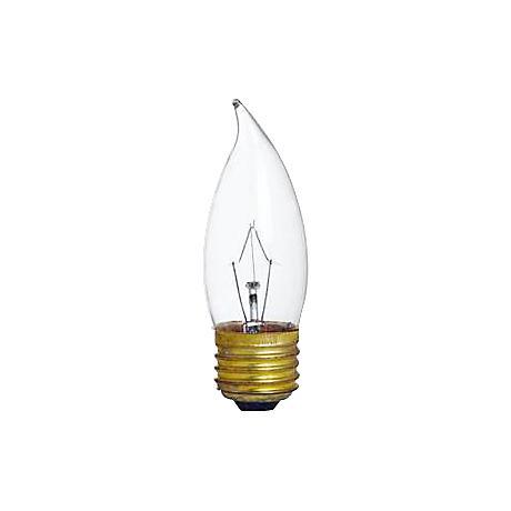 Clear Flame Tip 60-Watt Medium Base Candelabra Light Bulb