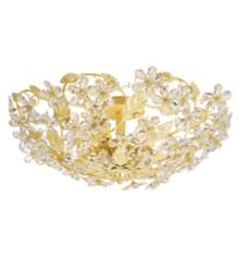 """Crystorama Crystal 25"""" Wide Ceiling Light Fixture"""