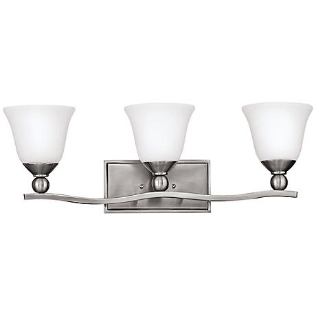 "Hinkley Bolla 26"" Wide Brushed Nickel Bathroom Light"