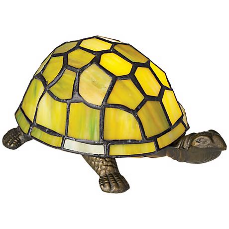 Green Turtle Tiffany Style Accent Lamp