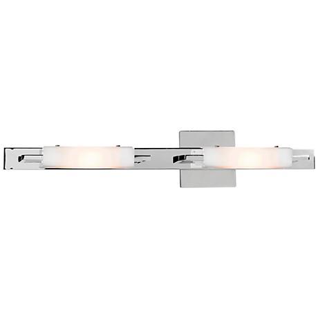 "Styx 23 1/4"" Wide Chrome Opal Glass Bath Light"