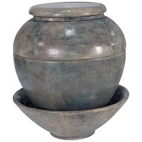 "Henri Studio Cielo Cast Stone 41 1/2"" High Jar Fountain"