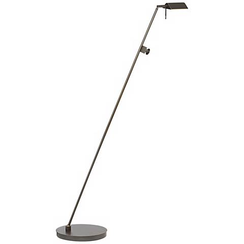 Holtkoetter Bernie Series Tilted Base Old Bronze Floor Lamp