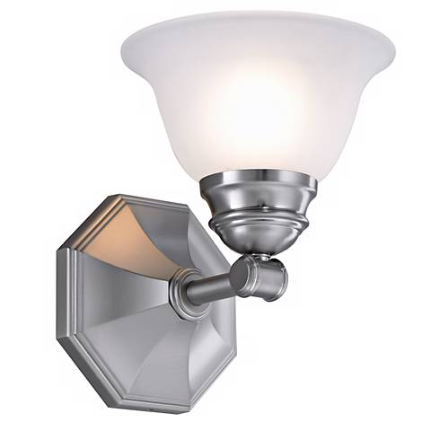 """Kathryn 8.5"""" High Brushed Nickel Wall Sconce"""