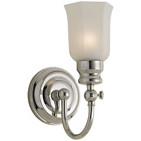 "Emily 11 1/2"" High Chrome Bath Sconce"