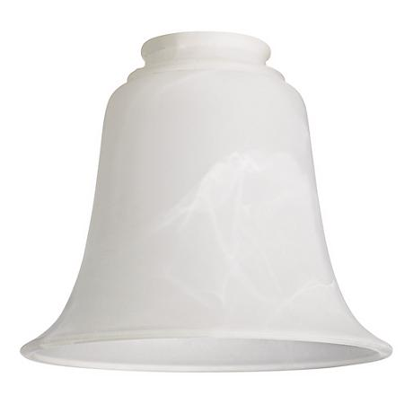 """2 1/4"""" Fitter Set of 4 Bell Shaped Marbleized Glass Shades"""