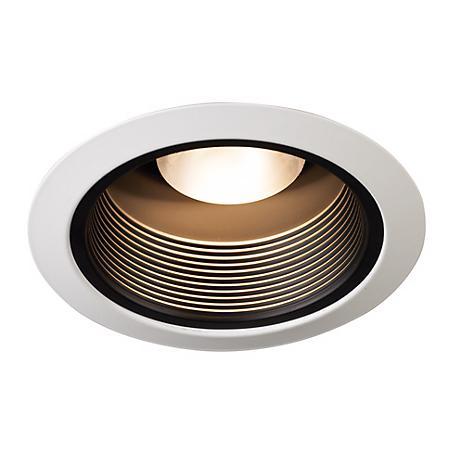 juno 5 black baffle white trim recessed light 87860. Black Bedroom Furniture Sets. Home Design Ideas