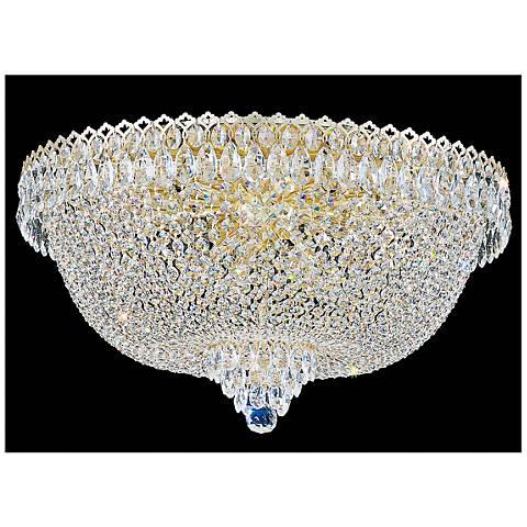 "Schonbek Camelot 24""W Aurelia 14-Light Crystal Ceiling Light"