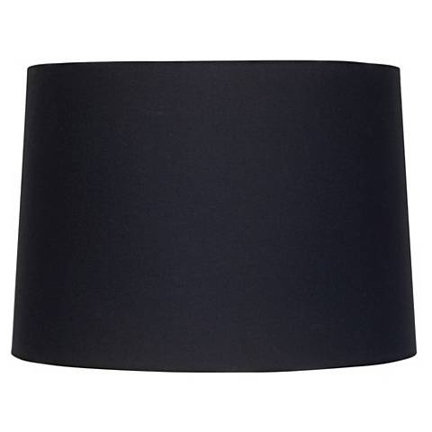 Black Fabric Drum Shade 11x12x8.5 (Spider)